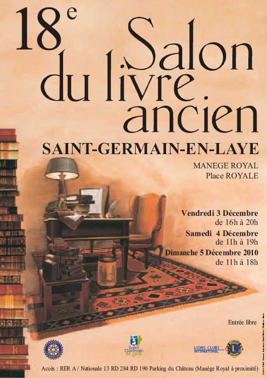 18e salon du livre ancien saint germain en laye. Black Bedroom Furniture Sets. Home Design Ideas