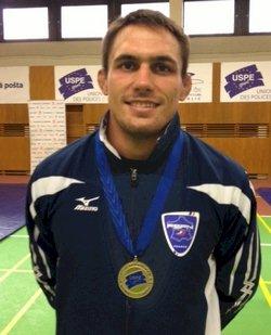 Steeve Guenot Champion d'Europe de Lutte Police en 2012