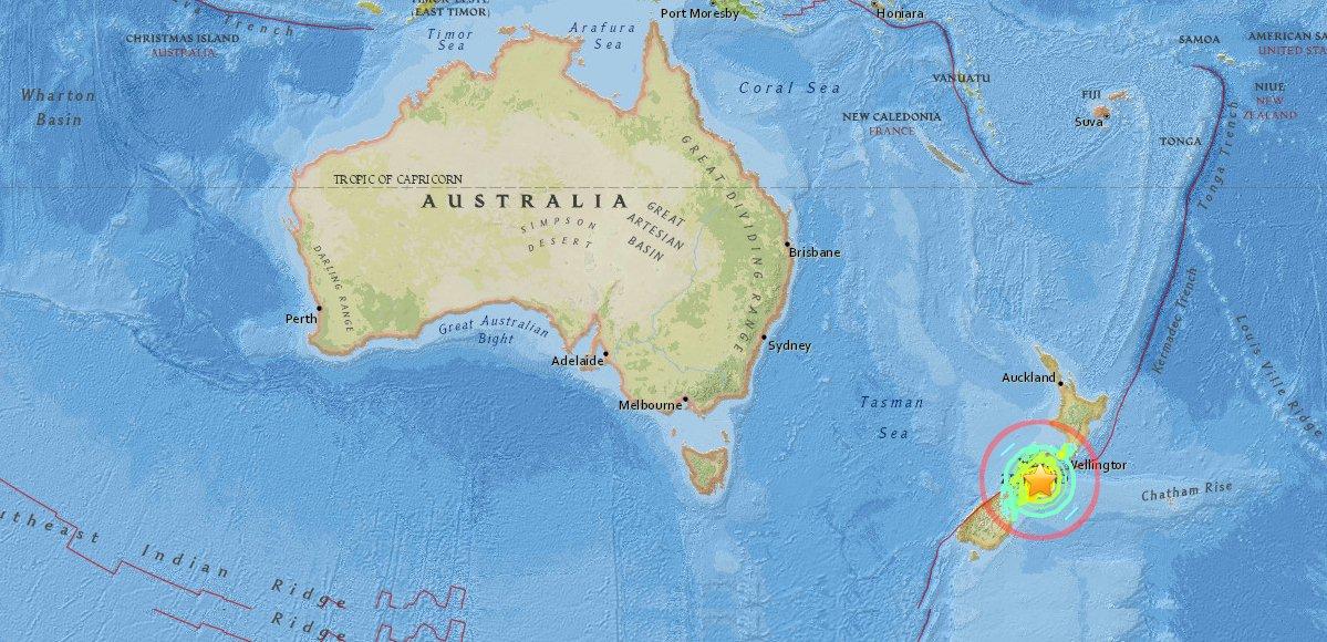 tremblement de terre Amberley, Nouvelle Zélande